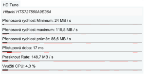 HP ProBook 6470 - Zápis na disk