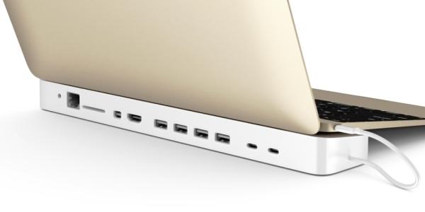 Apple MacBook a dokovací stanice s USB-C