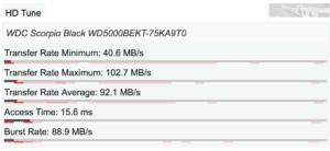 HP EliteBook 8740w - zápis na disk