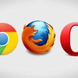 Loga prohlížečů - Chrome, Mozilla, Opera