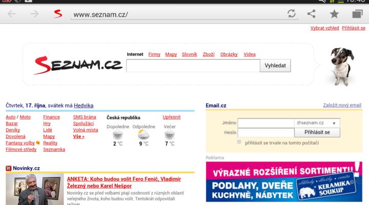 Prohlížeč od Seznamu